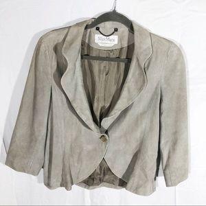 Max Mara Suede Silk Cropped Blazer Jacket